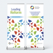 QMHC Leading Reform Summit Pullup Banners